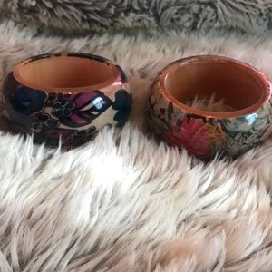 Floral bangles. buyer will receive both.
